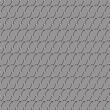 Pattern round wave black and white iPhone8 Wallpaper