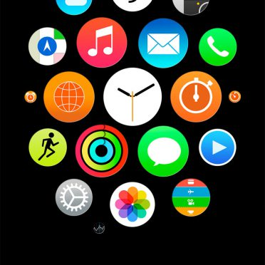 Like Apple Watch Black iPhone8 Wallpaper