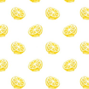 Pattern illustration fruit lemon yellow women for iPhone8 Wallpaper