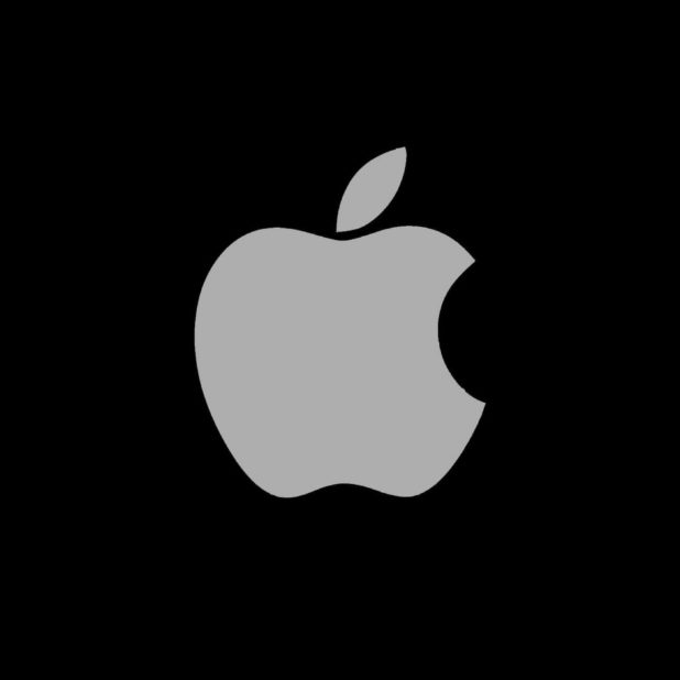 Apple logo black cool iPhone8Plus Wallpaper