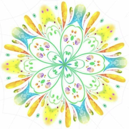 Círculo floral Fondo de Pantalla SmartPhone para Android
