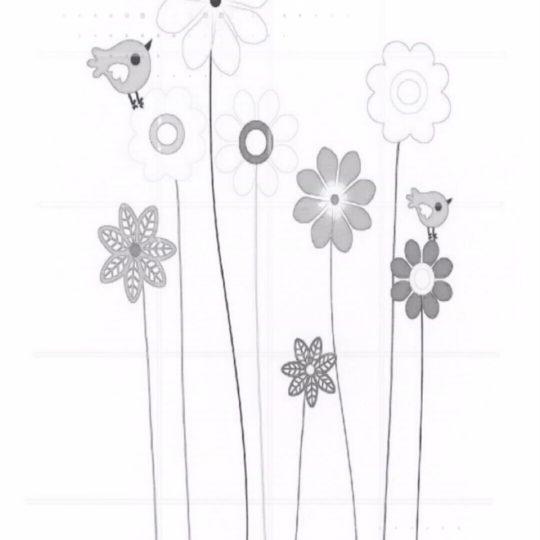 Papel pintado pájaro flor Fondo de Pantalla SmartPhone para Android