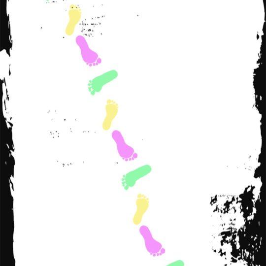 Huella de colores Fondo de Pantalla SmartPhone para Android