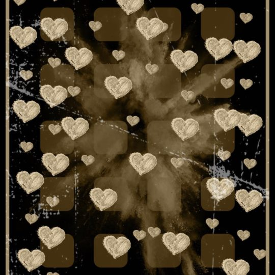 Corazón Marrón Fondo de Pantalla SmartPhone para Android