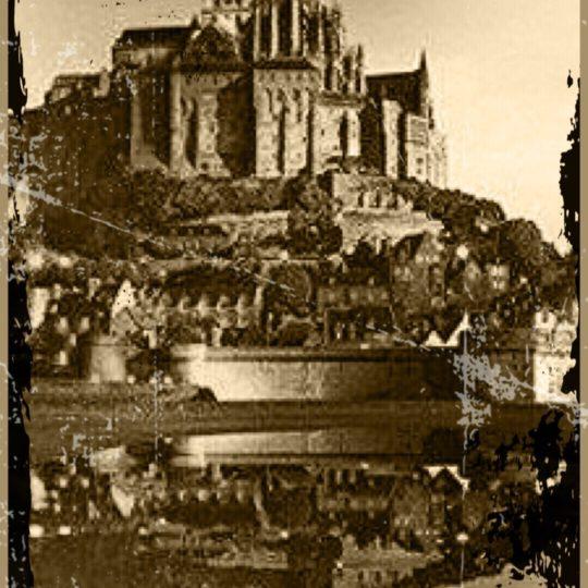 Mont Saint Michel Sepia Fondo de Pantalla SmartPhone para Android