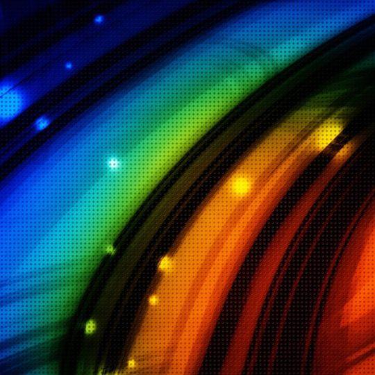 Patrón de color naranja azul verde Fondo de Pantalla SmartPhone para Android