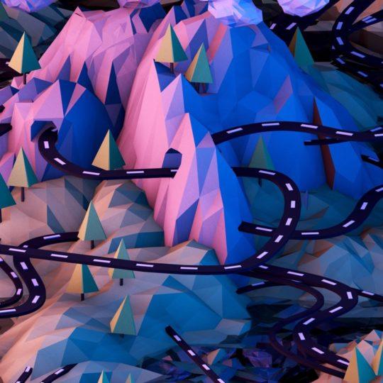 imagen del paisaje púrpura Fondo de Pantalla SmartPhone para Android