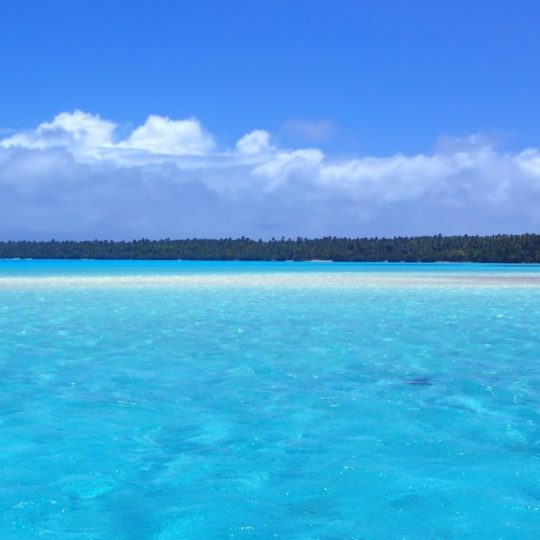 azul paisaje de la playa Fondo de Pantalla SmartPhone para Android