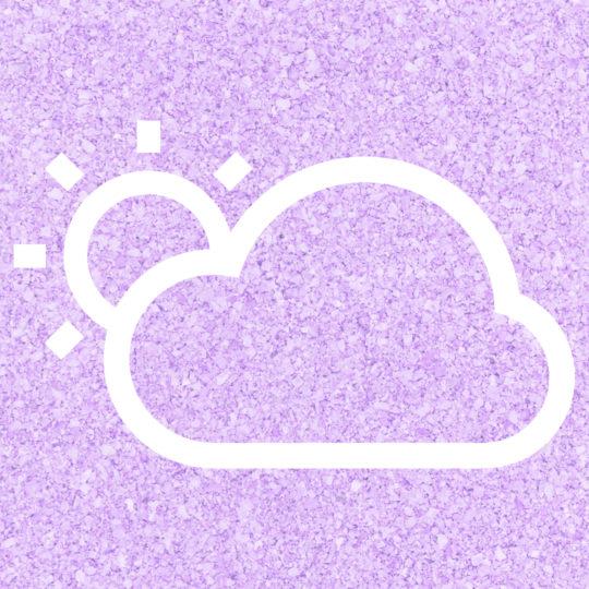 La nube del sol Tiempo púrpura Fondo de Pantalla SmartPhone para Android