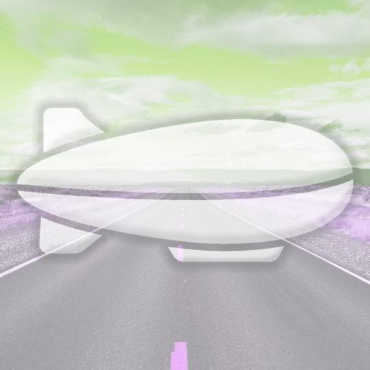 Paisaje camino dirigible del verde amarillo Fondo de Pantalla SmartPhone para Android