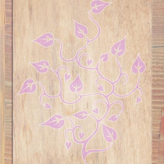 Grano de madera marrón de las hojas de color melocotón Fondo de Pantalla SmartPhone para Android