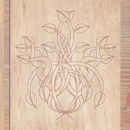 Grano de madera marrón de las hojas Fondo de Pantalla SmartPhone para Android