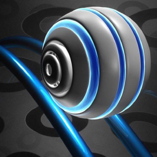 guay esfera azul blanco Fondo de Pantalla SmartPhone para Android