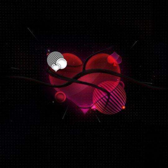 Para las mujeres Corazón Negro Rojo Fondo de Pantalla SmartPhone para Android