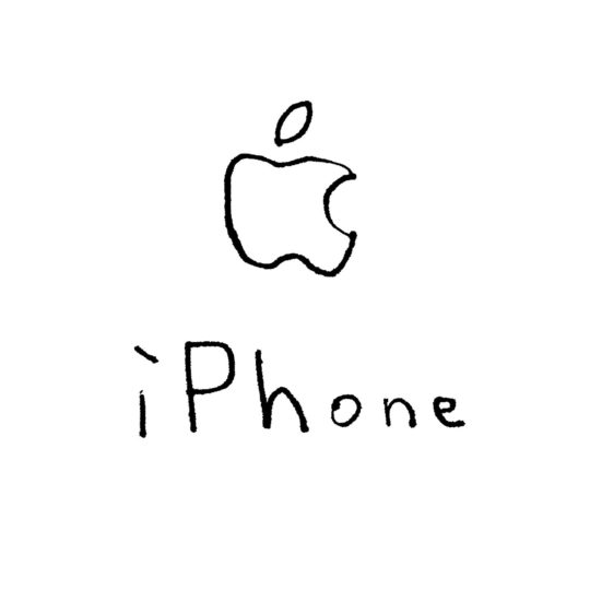 Ejemplos blanco Apple iPhone logotipo Fondo de Pantalla SmartPhone para Android