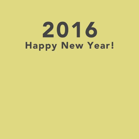 feliz año 2016 noticias del papel pintado de color amarillo Fondo de Pantalla SmartPhone para Android