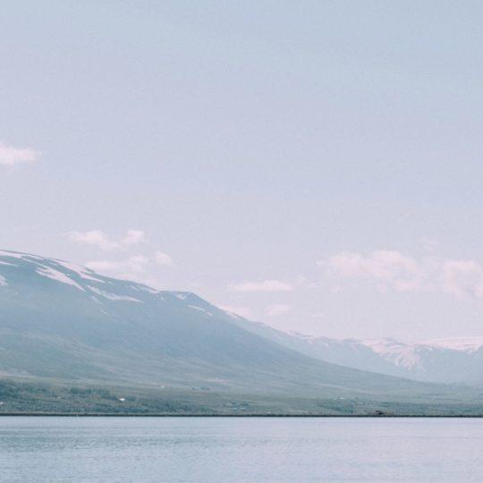 Paisaje blanco azul mar de la montaña Fondo de Pantalla SmartPhone para Android
