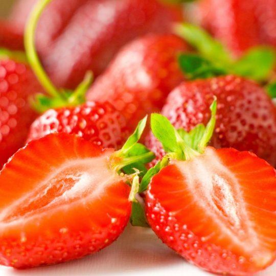 la alimentación de fresa rojo Fondo de Pantalla SmartPhone para Android
