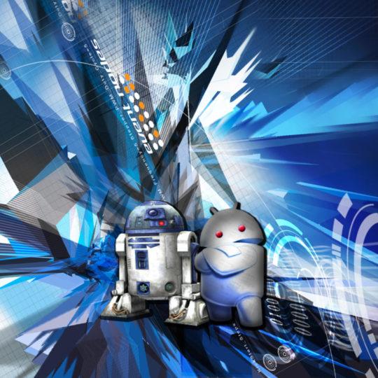 Logotipo androide R2D2 Fondo de Pantalla SmartPhone para Android
