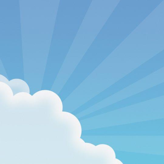 Modelo de la nube azul Fondo de Pantalla SmartPhone para Android