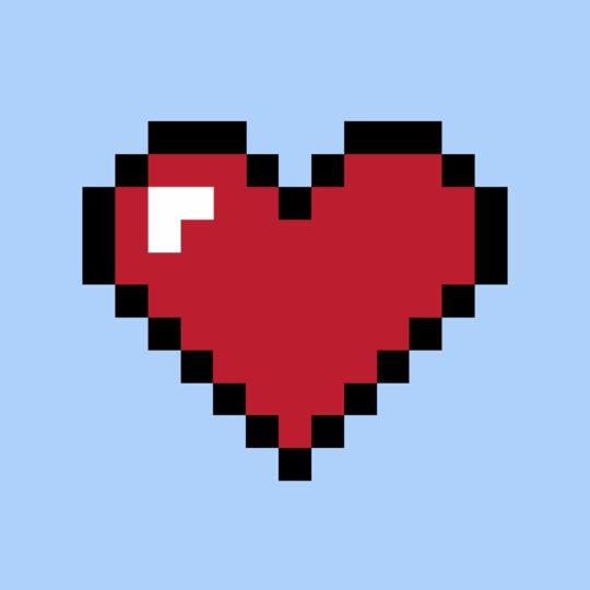 Corazón rojo para las mujeres azules Fondo de Pantalla SmartPhone para Android