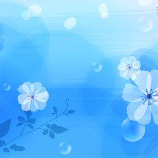 Patrón de flor azul Fondo de Pantalla de Apple Watch