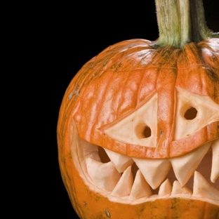 cabeza de la calabaza de Halloween Fondo de Pantalla de Apple Watch