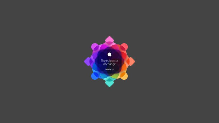 Logotipo de Apple WWDC2015 negro colorido Fondo de escritorio de PC / Mac