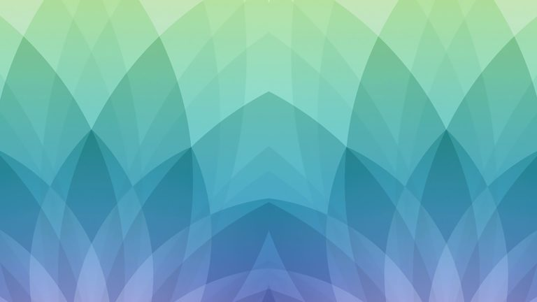 Patrón de la ilustración Apple azul verde Fondo de escritorio de PC / Mac