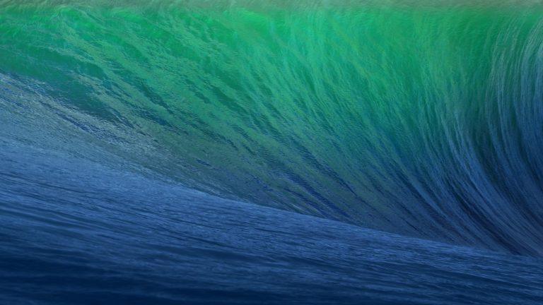 Mavericks de onda verde azul Fondo de escritorio de PC / Mac