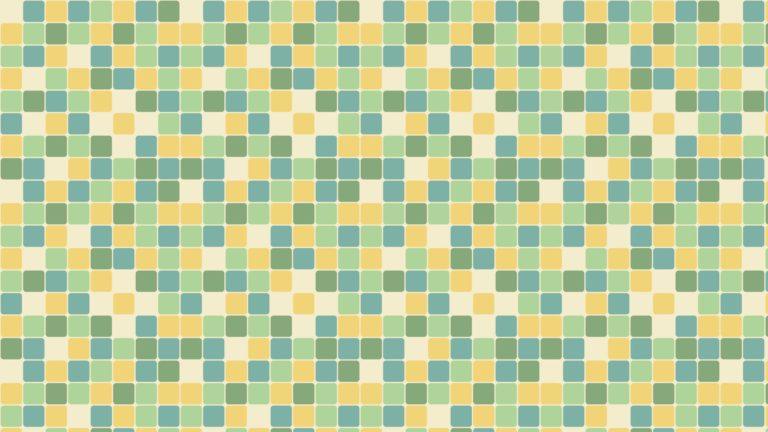 Patrón cuadrado azul verde amarillo Fondo de escritorio de PC / Mac