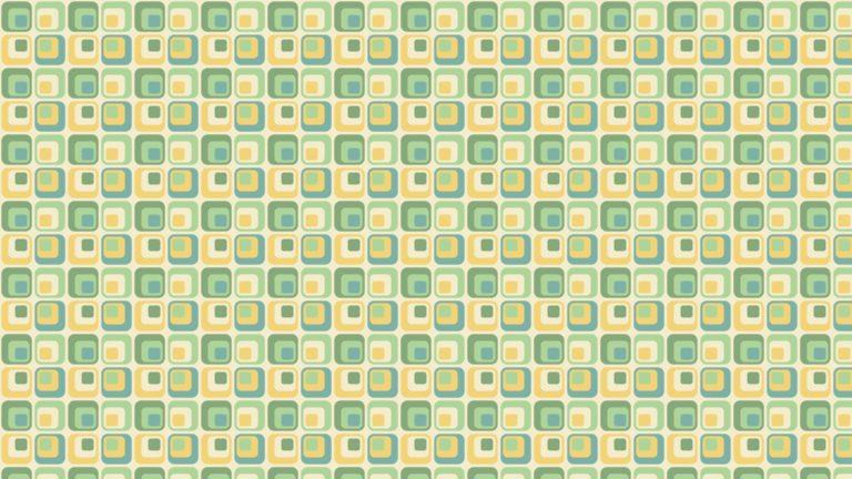 Patrón cuadrado verde amarillo Fondo de escritorio de PC / Mac