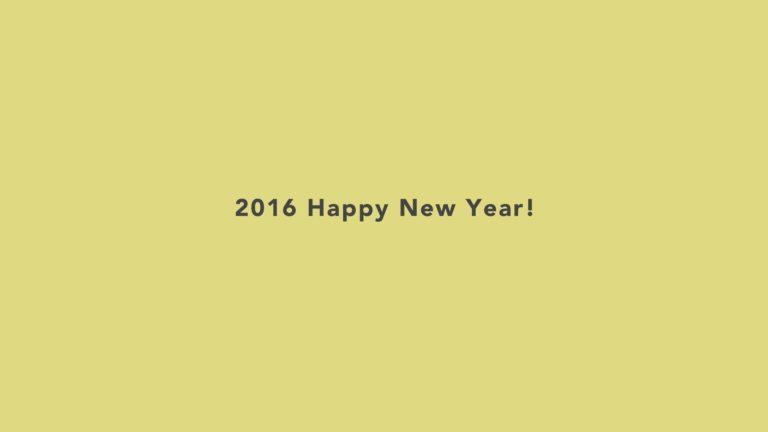 Feliz año de noticias 2016 fondo de pantalla amarillo Fondo de escritorio de PC / Mac