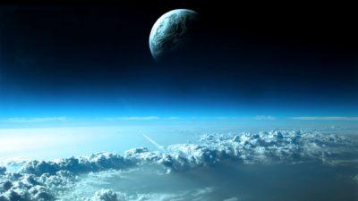 Paisaje Tierra estratosfera