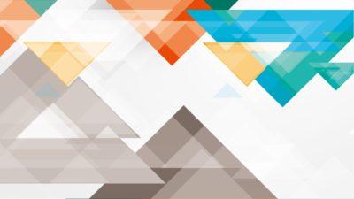 Patrón triángulo blanco azul rojo