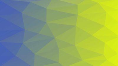 Patrón polígono azul verde