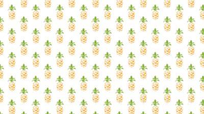 Ilustración de patrón fruta piña amarillo verdoso amigable con las mujeres
