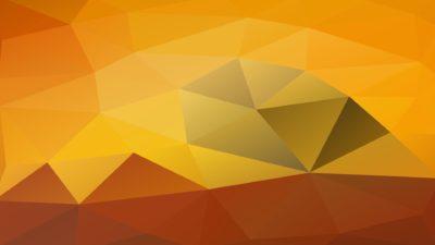 Patrón polígono amarillo naranja marrón