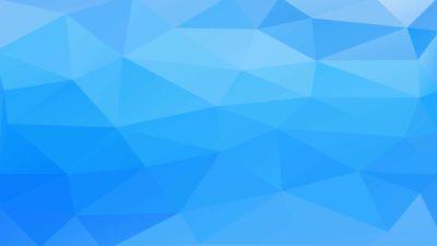 Patrón de polígonos 3D azul