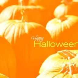 Amarillo calabaza de Halloween de iPad / Air / mini / Pro Wallpaper