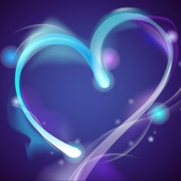 Corazón Púrpura lindo iPad / Air / mini / Pro Wallpaper