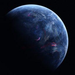Enfriar planeta azul negro iPad / Air / mini / Pro Wallpaper
