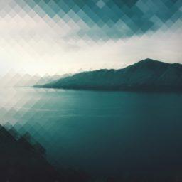 Paisaje lago de montaña azul verde iPad / Air / mini / Pro Wallpaper
