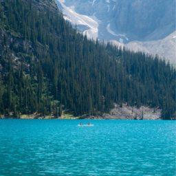lago de montaña paisaje iPad / Air / mini / Pro Wallpaper