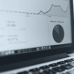 MacBook Analytics gráfico guay iPad / Air / mini / Pro Wallpaper
