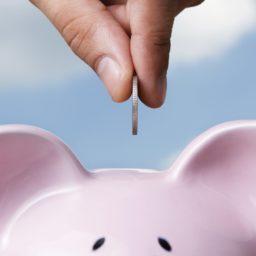 ahorro de dinero del cerdo iPad / Air / mini / Pro Wallpaper