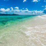 Paisaje cielo azul del mar