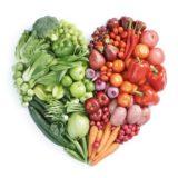 rojo verde alimentos vegetales del corazón para las mujeres