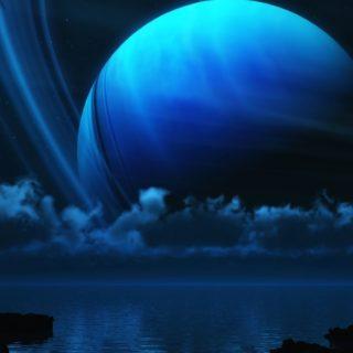 Paisaje planeta azul Fondo de Pantalla de iPhone4s