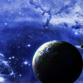 Tierra y Espacio azul Fondo de Pantalla de iPhone4s